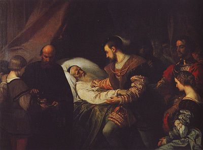 400px-Be_Francis_I_at_dying_Da_Vinci_Louis_Gallait