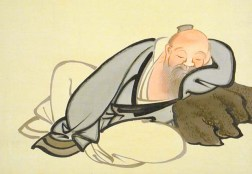 Japanese Man with Rock