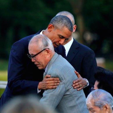 barack obama japan hiroshima memorial survivor