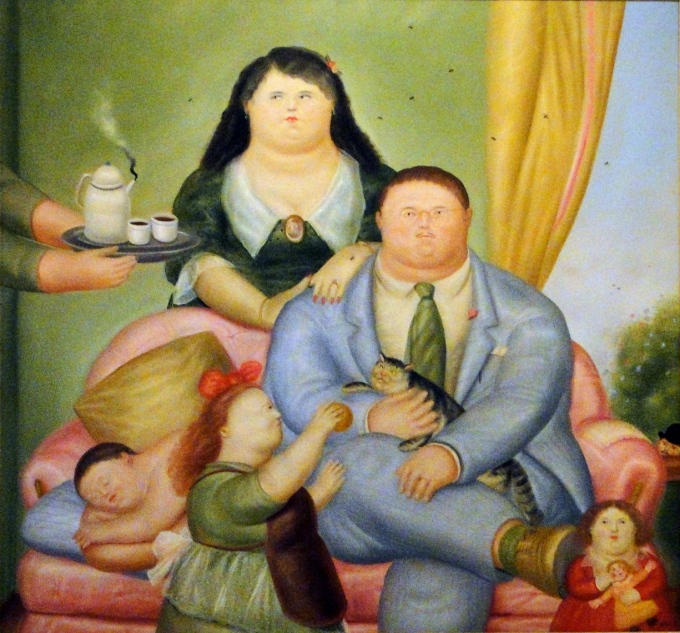 cuadros de botero la familia colombiana
