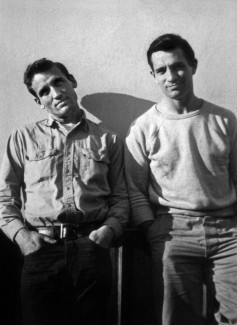 L'ecrivain americain Jack Kerouac (1922-1969) et Neil Cassady en 1952 photo prise par Carolyn Cassady --- American writer Jack Kerouac (1922-1969) and Neil Cassady in 1952 photo taken by Carolyn Cassady