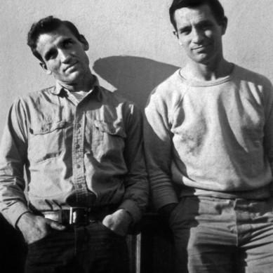 L'ecrivain americain Jack Kerouac (1922-1969) et Neil Cassady en 1952 photo prise par Carolyn Cassady --- American writer Jack Kerouac (1922-1969) and Neil Cassady in 1952 photo taken by Carolyn Cassady