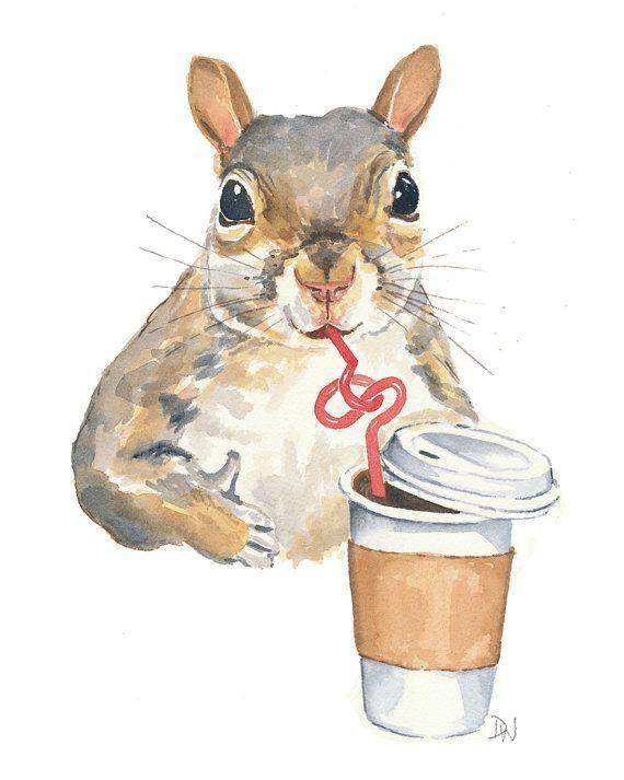 squirrel bendy straw