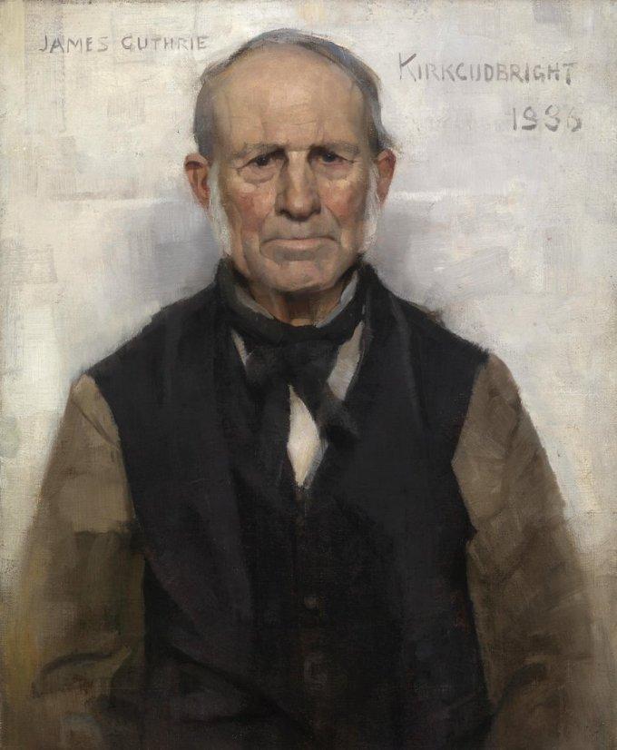 Sir-James-Guthrie-Old-Wille-the-Village-Worthy