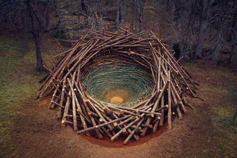 Nils-Udo-Clemson-Clay-Nest-2005-via-grrlandog-tumblr
