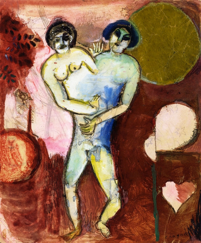 Marc_Chagall,_1911-12,_Hommage_à_Apollinaire,_or_Adam_et_Ève_(study),_gouache,_watercolor,_ink_wash,_pen_and_ink_and_collage_on_paper,_21_x_17.5_cm.jpg